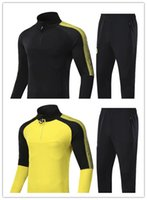 Wholesale Football German - German champion football club Bumblebee football training suit 1718 Andreas Moller and Sebastian Kehl classic black yellow zipper football t