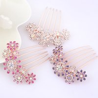 Wholesale Wedding Rhinestone Comb Wholesale - Bridal Crystal Pearl Hair Combs Hairclip Wedding Hair Accessories for Women