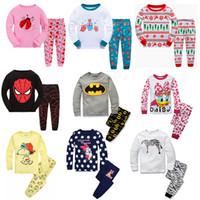 Wholesale New Arrivals Children Winter Clothing - Children Pajamas Baby Boys Girls 2pcs Cartoon Longe Sleeve Sleepwear Suits New Arrival Kids Sleepwear 2017 Spring Cute Baby Home Clothing