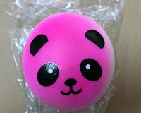 Wholesale Soft Animal Keyrings - Brand New 10cm Jumbo Panda Squishy Soft Buns Cell Phone Key Chain Bread Phone Straps Round Animal Cute Style Keyrings