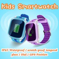 ingrosso guardare gsm sos-DS18 Kids Smart Watch per bambini Regalo di Natale GPS Tracker SOS Emergenza Anti-Lost GPRS / GSM / WiFi Posizionamento Monitor remoto