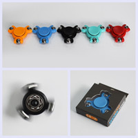 Wholesale Color Plastic Paper - 5 COLOR New Spinner Fidget Steel Balls Pencil Mini Hand Spinner For Autism and ADHD Rotation Time Long Anti Stress Decompression Toy