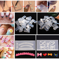 Wholesale Cabochon Mold - Wholesale- 30Pcs Mix 3D Design DIY Silicone Nail Art Acrylic Cabochon Mold Set Acrylic Nail Carving Stamping Stamper Decorations Wholesale