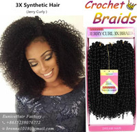 Wholesale Synthetic Hair Extensions Burgundy - Ombre braiding hair bundles crochet braids freetress bohemian braid crochet synthetic braiding hair ombre burgundy kinky curl weaves USA