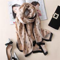 Wholesale Soft Silk Scarfs - luxury brand new summer women's scarf fashion lady silk scarves print soft shawls pashmina foulard femme long size bandana