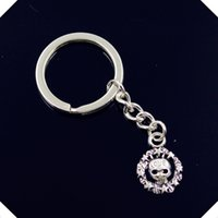 Купить Античный Ключ Черепа-Новые-моды-мужчины-30 мм-keychain-DIY-metal-holder-chain-vintage-circle-skull-skeleton-love-15mm-antique silver key ring