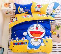 Wholesale Doraemon Bedding - Doraemon Cotton Children Bedding Printing Animation Cartoon Home Textiles Duvet Cover Sets 4 Pieces Bedding Sets