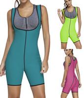 Wholesale Green Corset Bodysuit - 2017 Sexy women Neoprene waist trainer body shaper cincher bodysuit Slimming Underwear shapewear waist trainer corsets double side
