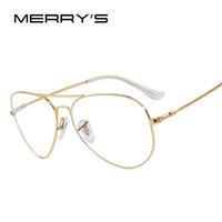 4f74633bd5a MERRY S Fashion Women Occhiali da vista con montatura in titanio Uomo Marca  Occhiali da vista in titanio Cornice con montatura in oro con occhiali