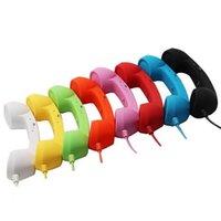 haut-parleur 4g achat en gros de-HD Téléphone Haut-Parleur MIC Rétro POP Microphone Combiné Prise 3.5mm Pour iphone 4 4S 4G 5 6