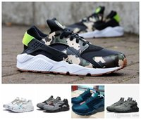 Wholesale Designer Branded Shoes - 2017 Air Huarache Running Shoes White Black Huaraches Men&Women Sneakers Famous Brand Custom Designer Sport Shoes Size 36-45 Free Shipping