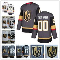 Wholesale Blue White Yellow Brand - Custom Vegas Golden Knights 2017-2018 New Brand Gray Home White Away #17 #29 Fleury Neal Engelland Stitched Any Number Any Name Jersey S-4XL