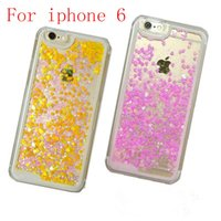 Wholesale 6g tpu clear case for sale - For iphone G S G For Samsung A3 A320F A5 A520F love Quicksand Rhinestone Case Glitter Transparent Liquid TPU cover