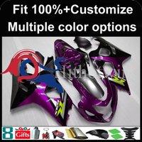 carenados violeta al por mayor-Cubierta de la motocicleta del kit violeta negro del molde de inyección para Suzuki GSX-R600750 2004-2005 04 05 GSXR750 04-05 2004 2005 Carenado de plástico ABS