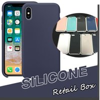 Wholesale Slim Case Iphone Free - For iPhone X Silicone Case Slim Ultra Thin Soft Rubber Solid Cover Soft Shell For iPhone X 8 Plus 7 6 6S With Retail Box Free Shipping DHL