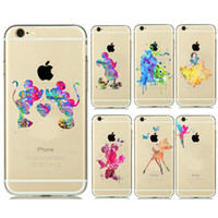 Wholesale Princess Tinker - Princess Snow White Cinderella Little Mermaid Mickey Minnie Ariel Tinker Bell Watercolor Soft TPU Gel Case For iPhone 5 5C SE 6 7 Plus