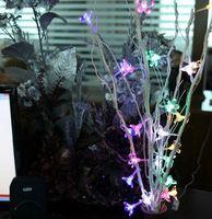 ingrosso portato albero fiore di ciliegio-Albero di fiori essiccati LED Rami di luce naturale 25 Cherry Tree Flowers Room Ornamento di Natale Ghirlanda di luce