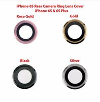 Wholesale Cell Phone Parts New - 10pcs lot NEW Back Rear Camera Ring Cover Glass with Frame For iPhone 6S & 6S Plus Cell Phone Repair Parts Wholesale