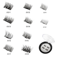 Wholesale true hair - 3D Magnetic Eyelashes Natural Realistic False Eye Lash Directly Adsorbed On True Eyelashes Piece