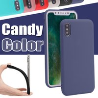 Jelly Candy Solid Color Matting Polish Grinding TPU Housse en caoutchouc ultra fin mince pour iPhone X 8 Plus 7 6 6s Samsung Note 8 S8 S7 Edge