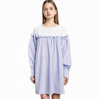 Wholesale Navy Striped Long Sleeve Dress - Striped Ladies Lovely Sweet Dress Navy Casual Summer Women Dress Long Sleeves Vestidos De Festa Curto Party Dresses 50A0074