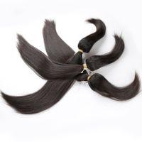 бразильские пучки волос для плетения оптовых-Прямая Коса В Пучках Девственные Бразильские Перивийские Малайзийские Индийские Волосы Прямые И Наращивание Волос Волна Тела