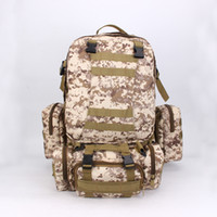 Wholesale camping college backpacks for men for sale - Group buy Large Capacity Backpack Multi Function Camouflage For Men And Women Casual Shoulder Bag Outdoor Sport Tourism Military Rucksack sj F