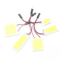 Wholesale Led Reading Panel - Car bulbs LED COB Panel Reading Light Clearance lights Auto Dome Lamps T10 W5W T11 T4W W6W BA9S Luggage Compartment Light