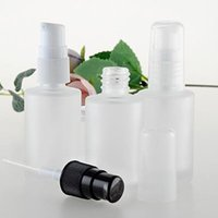 Wholesale Wholesale Lotion Pumps Lids - 30ml frosted glass bottle with press pump LID, empty eglass 30ml lotion bottle ,Cosmetic Packaging 1 ounce glass F20171381