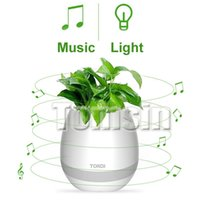 Wholesale Cheapest Speakers For Phones - Cheapest Touch Wireless Bluetoth Smart Touch Music Flowerpots Plant Piano Music Playing speaker LED Night light with Retail package