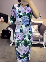 Wholesale Italy Women Sexy - High Quality Silk Dresses for Women 2017 New Arrival Brand Designer Dresses with tag And Logo Italy Brand Designer Dresses