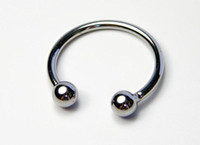 Wholesale Steel Cockrings - Double bead the glans 32,35,40mm penis chicken male penis ring Penis Cock Rings Metal Delay Ring Cockrings Fetish Sex Toys