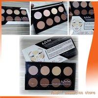 Wholesale Multi Color Lips - 2017Latest nyx cosmetics series nyx8 color eye shadow nyx beautiful makeup high-end lip gloss cosmetics dhl free shipping