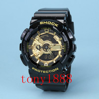 Wholesale Watch Men Famous - AAA luxury brand watch men G All pointer work GA110 Men sports watches LED light watch famous digital shock watches with Box