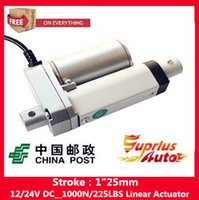 """Wholesale Linear Actuator 24v Dc Motor - Free Shipping sell like hot cakes electric linear actuator 1"""" 25mm stroke, 1000N  225LBS Load 12V 24V DC linear actuator"""