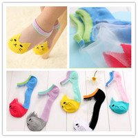 Wholesale Big Boys Socks - 5colors cartoon cat crystal ankle socks for baby boys girls big kids Children's lovely breathable socks 4sizes for 1-10T