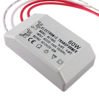 Wholesale Electronic Transformer For Halogen - Newest 60W 220V 12V Halogen LED Lamp Electronic For Transformer Power Supply Driver Adapter Converter Promotion