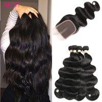 Wholesale Brazilian Body Wave Hair 12 - Wholesale Brazilian Virgin Hair 4 Bundles with Closure Body Wave Peruvian Indian Malaysian Cambodian Grade 8A Virgin Human Hair Extensions