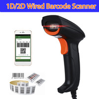 Wholesale Usb Qr Code Scanner - Wholesale- Heroje H271U Handheld Wired USB 2D QR Mobile Phone Payment Screen Imager Barcode Scanner Bar Code Reader
