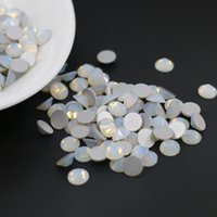 Wholesale Easter Flat Backs - Flat Back Non Hotfix Rhinestone Hot Sale 3D Nail Art Decorations Flatback Rhinestones SS3-SS30(Opal White)
