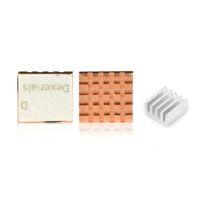 himbeer-pi-kühler großhandel-Großhandel 3pcs CPU RAM LAN Kupfer Kühlkörper Kühler Pad Kit für Raspberry Pi 3, Pi 2, Pi-Modell B +, Raspberry Pi A A + Kühler-Kühlung
