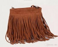 Wholesale Womens Fringe Tassel Brown Handbag - HOT Faux Suede handbags Fringe Tassel Shoulder Bag Womens Handbags Messenger Bag Fashion European and American Style Ladies CrossBody bag
