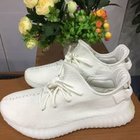 Wholesale basketball boots wholesale online - Boost V2 CP9366 Cream White Kanye West Zebra Black White SPLY Running Shoes Size
