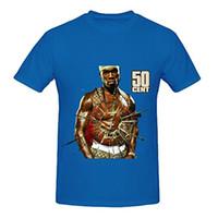 Wholesale Rich Black Printing - New 2017 Fashion Mens T-Shirts 50 Cent Get Rich Or Die Tryin 80s Mens Crew Neck Big Tall Tee Shirts O-Neck T Shirt Men