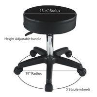 Wholesale stool black resale online - Black Adjustable Hydraulic Rolling Swivel Stool Tattoo Facial Massage Salon S15