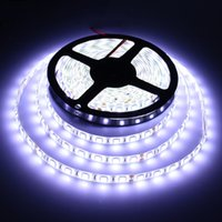 Venta al por mayor-5M LED tira de luz 5050 RGB impermeable 300Leds Flexible Led cinta no-impermeable DC12V blanco blanco cálido RGB LED cinta
