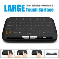 H18 Wireless Mini Keyboard Full Touchpad 2.4G Fly Air Mouse Controle remoto universal para Windows Android TV Box IPTV HTPC Laptop Gamepad