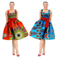 Wholesale office clothing for xl size online - Africa Dress For Women Wax Print Dresses Dashiki Plus Size Africa Style Clothing for Women Office Dress Women African Clothes