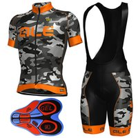Wholesale Army Cycling Jersey Xl - Ale Army Orange Cycling Jerseys 2017 Short Sleeves Bike Wear With 9D Gel Padded Shorts MTB Ropa Ciclismo Bicycle Clothing