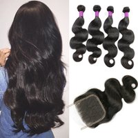Wholesale Buy Remy Wholesale - Peruvian Body Wave Hair Weave Bundles Human Hair Bundles Non Remy Can buy 3 or 4 Bundles Can Match With Closure